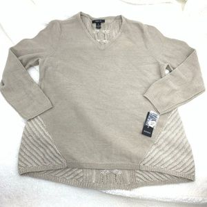Style & Co Womens X-Large Pullover Top Sweater Tan